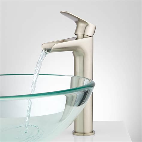 Sink And Faucet Pagosa Waterfall Vessel Faucet Bathroom Sink Faucets