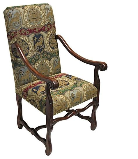 Replica Armchairs by Carved Solid Mahogany Antique Replica Arm