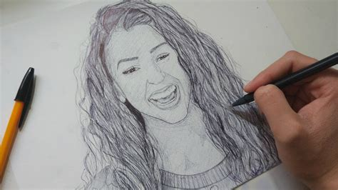 liza koshy drawing with ballpoint pen youtube