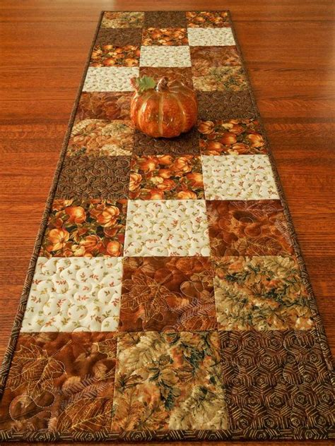 fall table runners to quilted fall table runner with pumpkins and leaves autumn