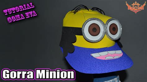 gorro en goma eva foami minions imagui como hacer gorros de minion tutorial gorra minion en 3d de