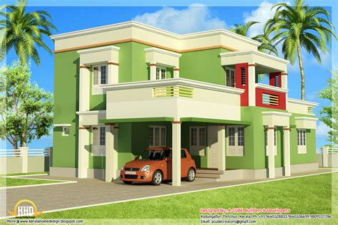 simple design of houses simple 3 bedroom flat roof home design 1879 sq ft kerala home design and floor plans