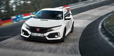Civic Type R Nurburgring Time by 2018 Honda Civic Type R Sets Nurburgring Record