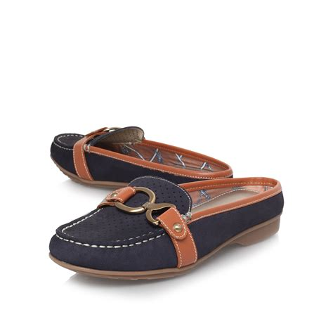 flat loafer klein hildred flat loafer shoes in blue navy lyst