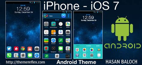iphone themes for android ios 7 android theme themereflex