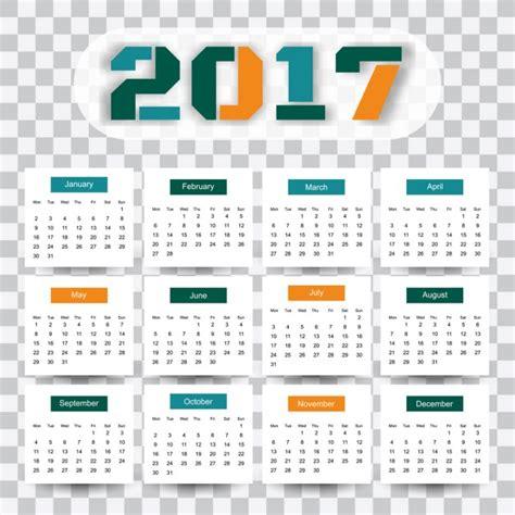 Descargar Calendario 2017 Modelo Moderno De Calendario 2017 Descargar Vectores Gratis