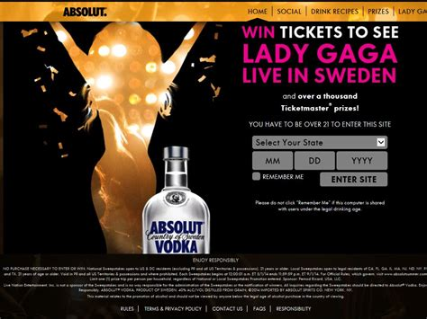 Local Sweepstakes - the absolut summer national and local sweepstakes