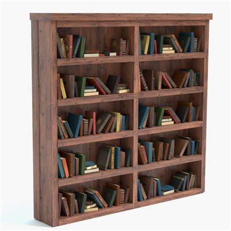 bookshelf books 3d 3ds