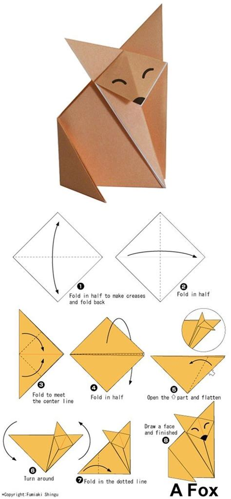 Origami Wolf Tutorial - 15 easy origami tutorials for anyone to follow origami