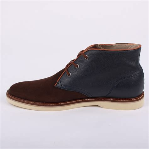 lacoste sherbrooke hi 7 mens laced leather suede desert