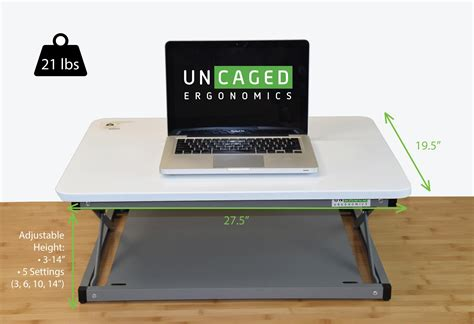 standing computer desk amazon uncaged ergonomics cdmm w changedesk mini stand up desk