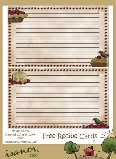 primitive recipe card template 17 best images about recipe cards books on