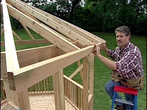 How To Install Shingles On A Hip Roof How To Build A Gazebo Diy Timber Frame Wood Back Yard