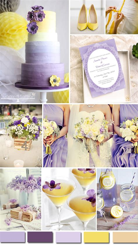 lilac and yellow wedding theme trubridal wedding 2016 wedding color ideas