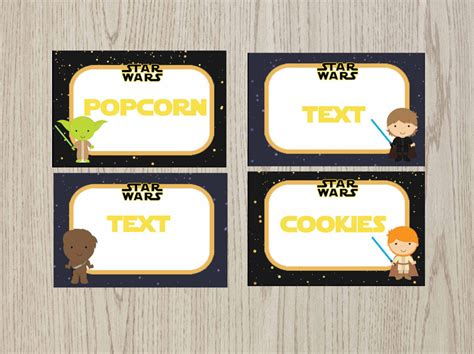 wars card template editable wars food tent cards wars food labels
