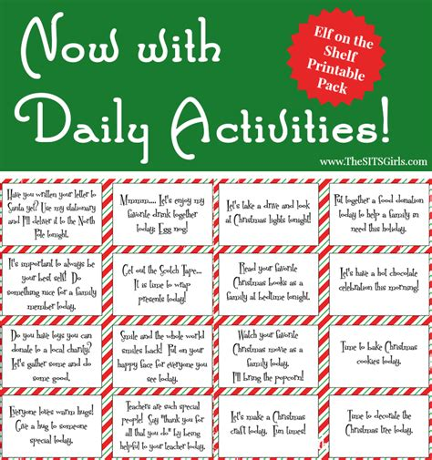 printable elf activities elf on the shelf printables the sits girls