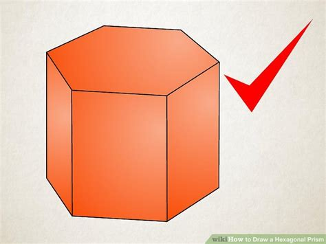 How To Make A Hexagonal Prism Out Of Paper - 3 ways to draw a hexagonal prism wikihow