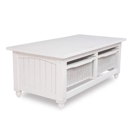 lifestyle solutions cottage coffee table in satin white
