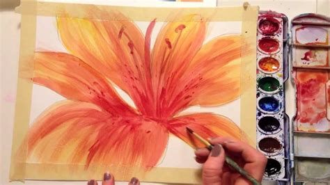 paint  flower  watercolor youtube