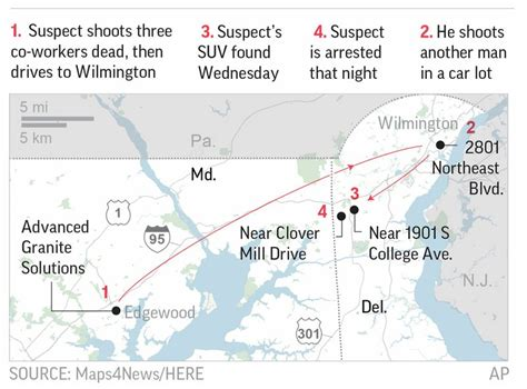 Delaware Traffic Court Search 2 Survivors Of Maryland Office Shooting In Critical Condition Bcnn1 Black