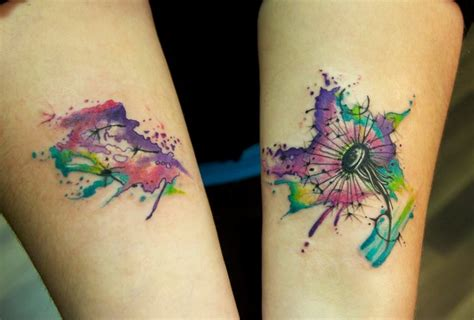 watercolor dandelion tattoo water color dandelion watercolors colors and water colors