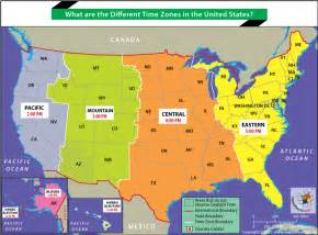 map of usa showing different time zones what are the different times zones in the united states