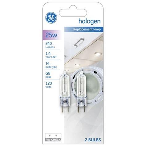 t4 8 watt light bulb ge 25 watt t4 halogen light bulb 2 pack target