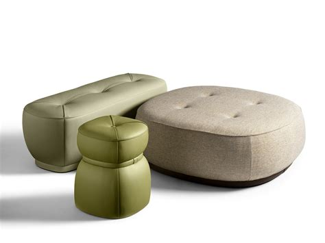 pouf poltrona frau lepli fabric pouf the collection sofa and armchairs
