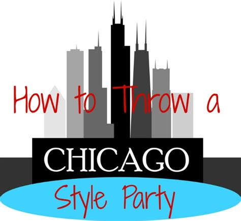 chicago themed decorations chicago style tip junkie