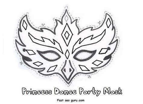 princess mask coloring pages 8 best images of printable princess masks mask