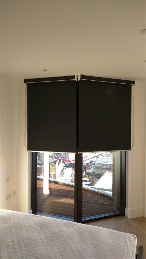 Fitted Blinds by Blackout Roller Blind With Matching Pelmet Fitted Outside