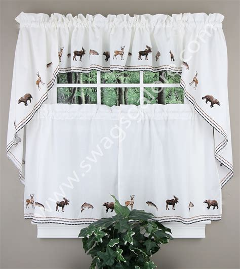 embroidered kitchen curtains lodge embroidered curtain walnut renaissance home