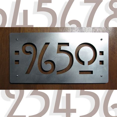 Handmade House Numbers - custom mission style house numbers in stainless steel