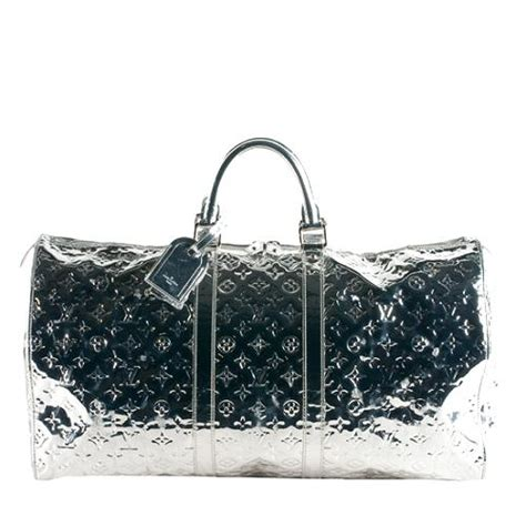 louis vuitton limited edition monogram miroir keepall 55 duffle bag sale