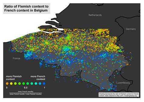 belgium language map belgium language map