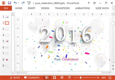 Animated 2016 New Year Powerpoint Template Powerpoint Templates Free 2016
