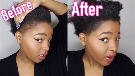 hair style for people with no edges no edges my secret to thinning edges 2017 youtube