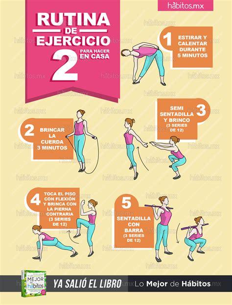 rutina de gimnasio en casa ejercicios en casa h 225 bitos health coaching rutina de ejercicio 2 para