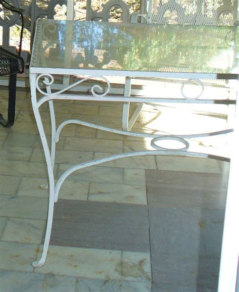 wrought iron glass top patio table antique wrought iron patio table garden decor glass top ebay