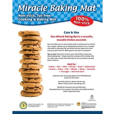 Miracle Mat by Miracle Baking Mat Non Stick Reusable Cooking Oven Ad