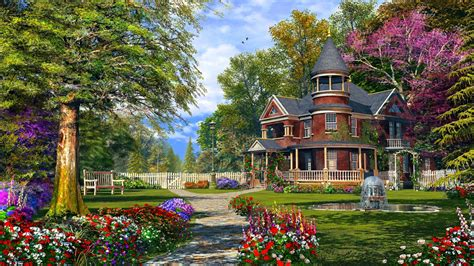 wallpapers home the summer house wallpaper and background 1366x768 id