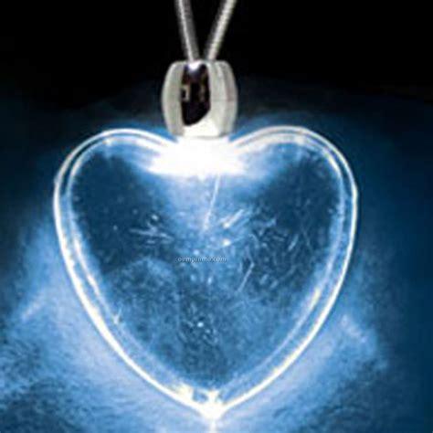 light blue pendant necklace blue acrylic heart pendant light up necklace china