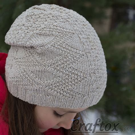 knitting hats for beginners child s slouchy beanie hat quot temper quot free knitting
