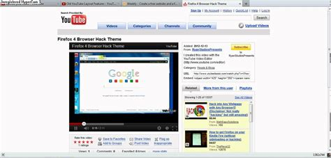 old youtube layout firefox old youtube video page first layout becuase in 2007