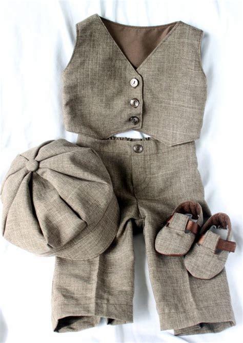 Infant And Child Suits brown infant child baby vest suit cap hat booties