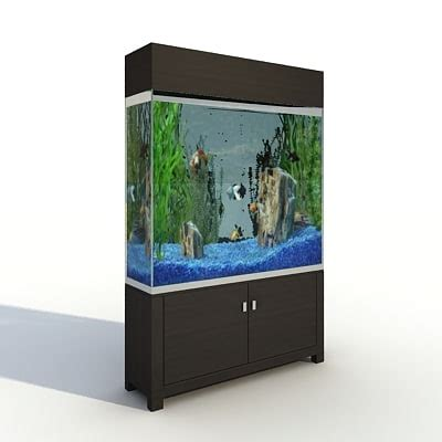 shelf aquarium 3d model