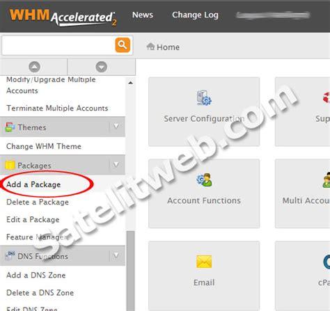 cara membuat vps hosting inilah cara membuat paket web hosting cpanel di whm server