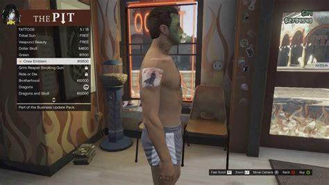 gta online tattoo removal gta v business update all tattoos illuminati crew