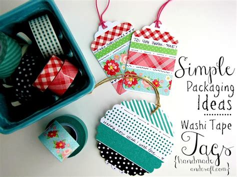 washi tape ideas diy washi tape gift tags simple packaging ideas