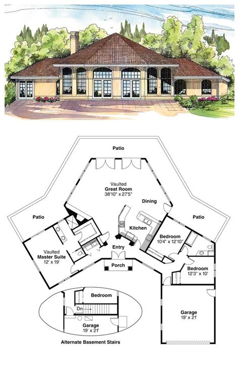 cool house plan 16 best octagon style house plans images on pinterest